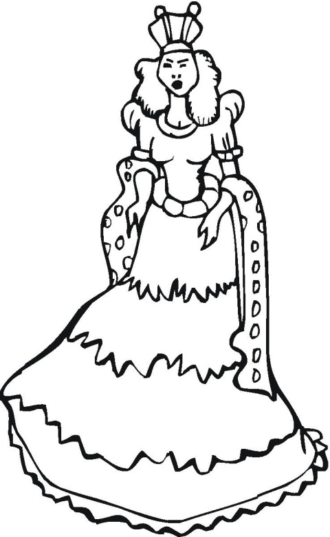 Free Princess Coloring Pages #1