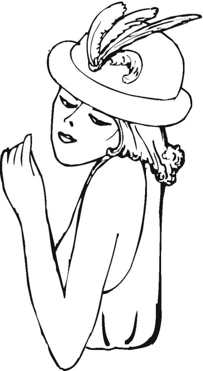 Fashion Model Coloring Pages Fashion Model Coloring Pages