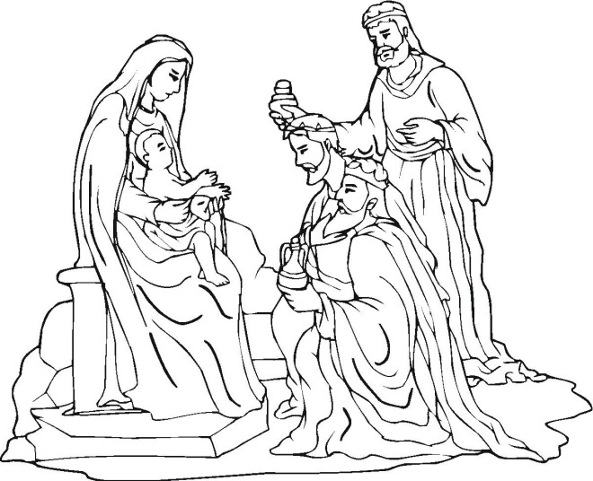 sketches of christmas nativity coloring pages