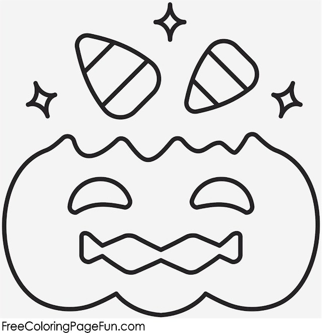 candy corn coloring pages - free halloween coloring pages halloween pumpkin and