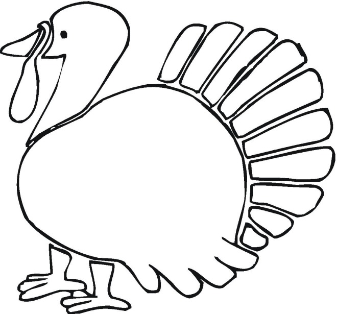 cartoon turkey coloring pages - photo#23