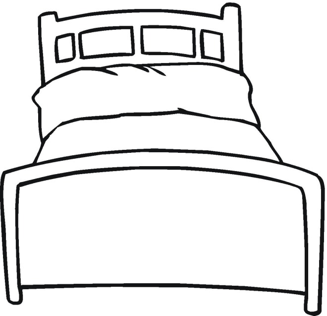 beds coloring pages - photo#3