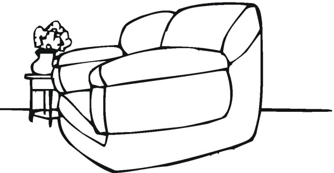 sofa coloring pages - photo#15