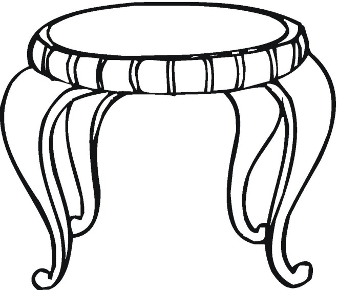Free Image Of Table Coloring Pages Table Coloring Pages