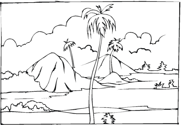 free coloring pages of landscapes - photo#18