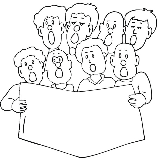 choral singing coloring pages - photo#4