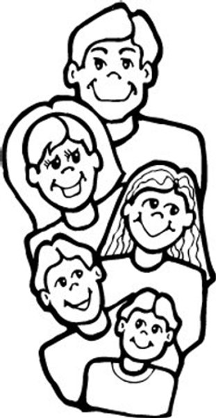 family coloring page - free family coloring pages