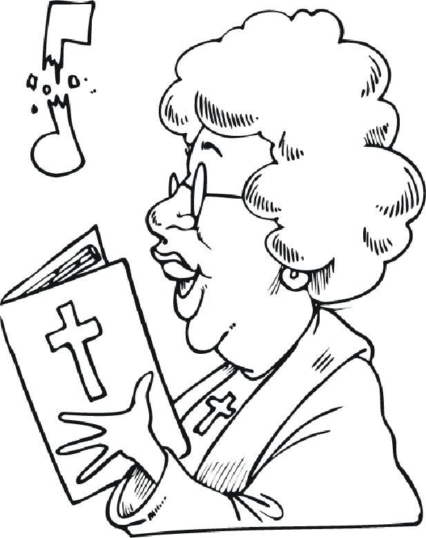 choral singing coloring pages - photo#7