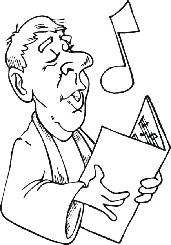 choral singing coloring pages - photo#19