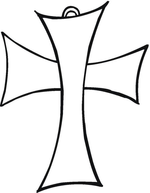 Free religious coloring pages for Free cross coloring pages