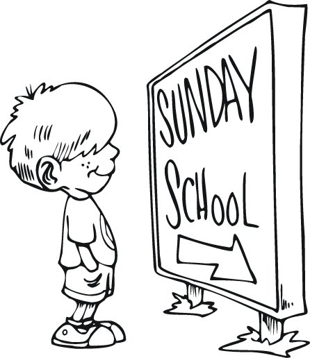 cute sunday school coloring pages for images