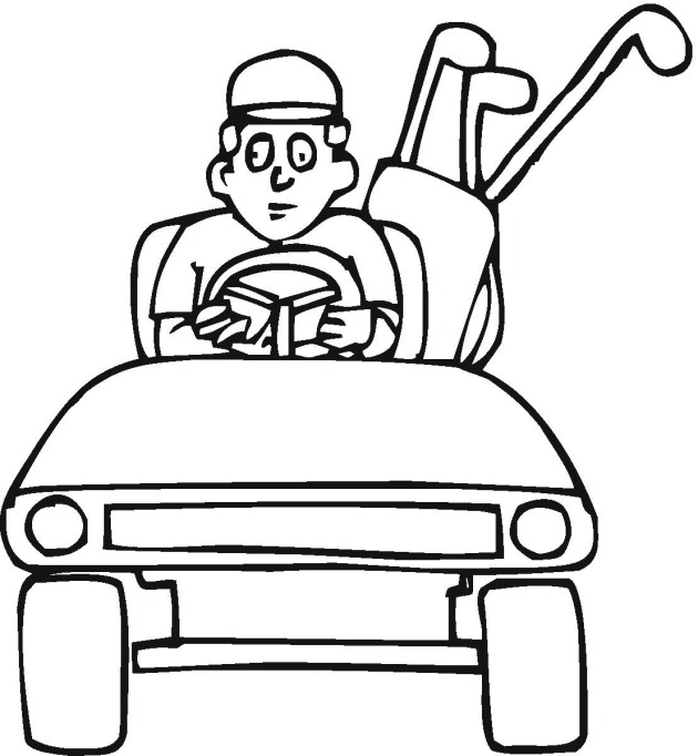 Free Golf Coloring Pages