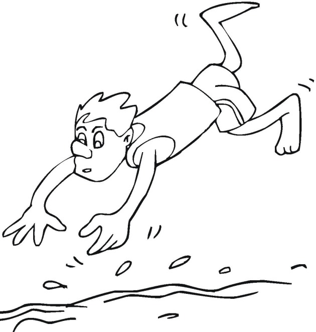 Free Swimming Coloring Pages Swimming Colouring Pages