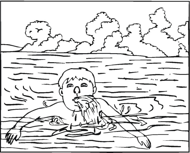 Free coloring pages of swimming safe