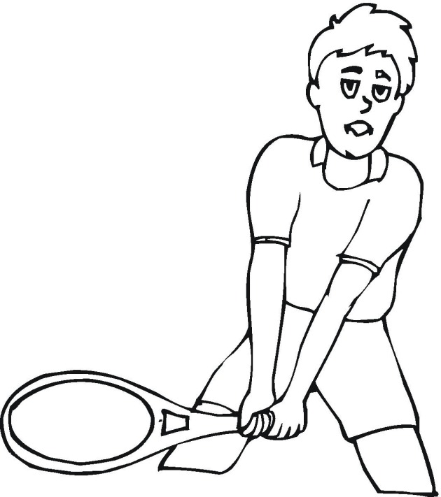 free tennis coloring pages. Black Bedroom Furniture Sets. Home Design Ideas