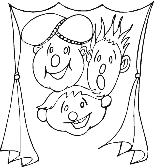 coloring pages of drama masks - photo#24