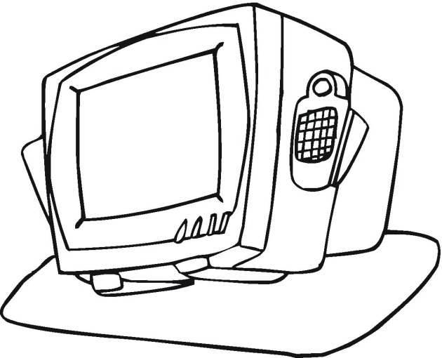 tv coloring page - free coloring pages of tv table