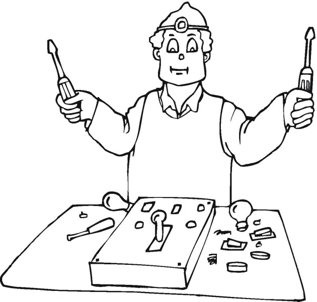 Scientist Tools Coloring Pages