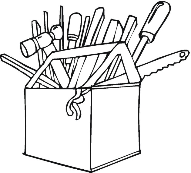 Tool Box Coloring Page Tools Dad Colouring Pages