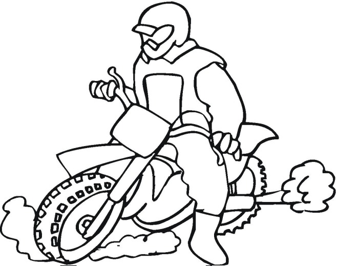 advanced motorcycle coloring pages - photo#12