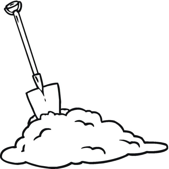 shovel coloring pages - photo#5