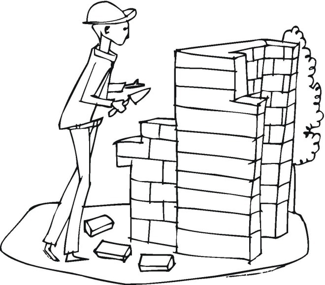 Construction Coloring Pages Printable Coloring Pages Construction Worker Coloring Page