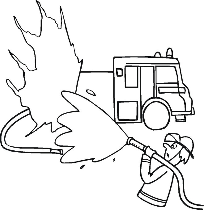Free Fire & Police Coloring Pages