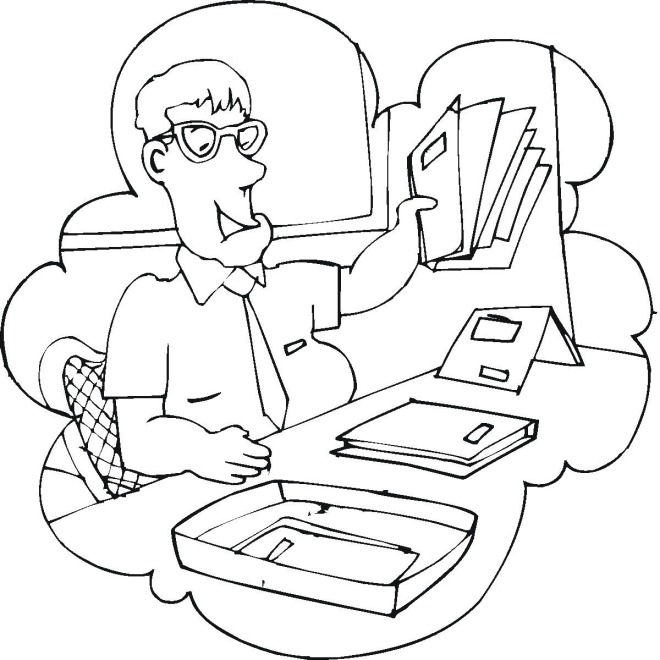 office adminstator coloring pages - photo#47